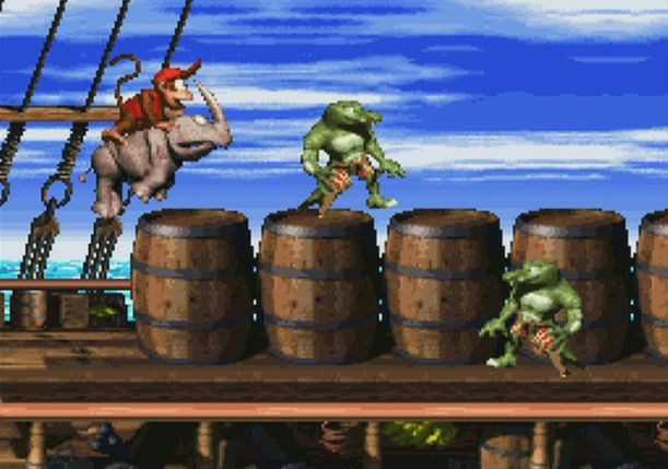 Donkey Kong Country 2: Diddy's Kong Quest.  You really need to see it running to fully appreciate the visuals.